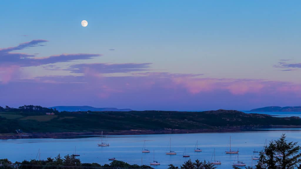 Purple sky. Schull West Cork sunset sea and boats 10