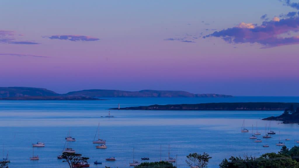Purple sky. Schull West Cork sunset sea and boats 5