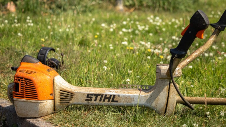 Stihl strimmer engine and handles