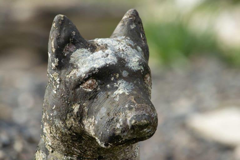 Dog garden statue