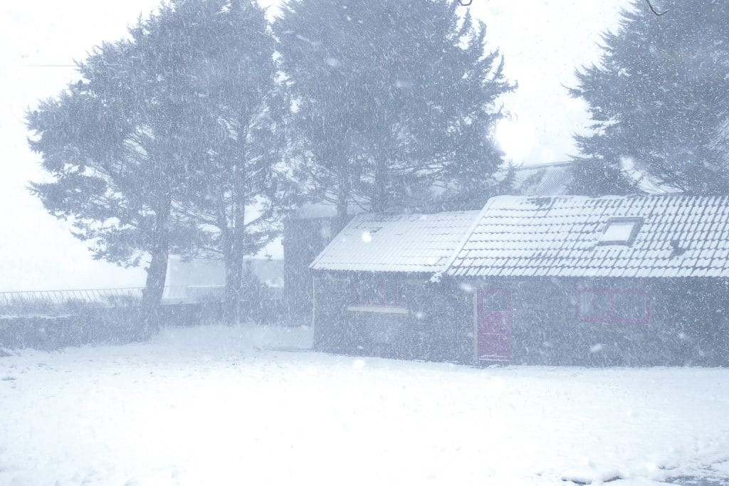 Beast from the east snow storm photograph West Cork