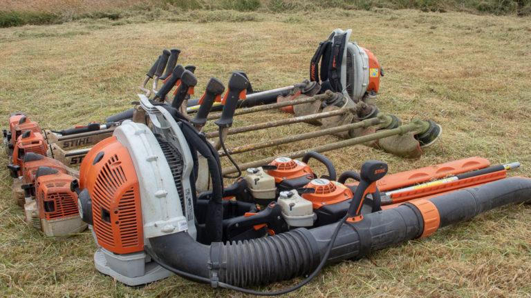 Collection of stihl garden equipment